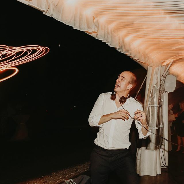 "While mixing a wedding at @historicshadylane, a cicada flew into my head and scared me pretty bad. I turned around and saw it land on the tent. I said to Hannah, ""I'm gonna kill that thing!"", jumped into the air and slapped it as hard as I could. I missed... it flew at me, I freaked and Hannah snapped this picture. If you zoom in you can actually see the cicada! 😂 #expecttheunexpected"