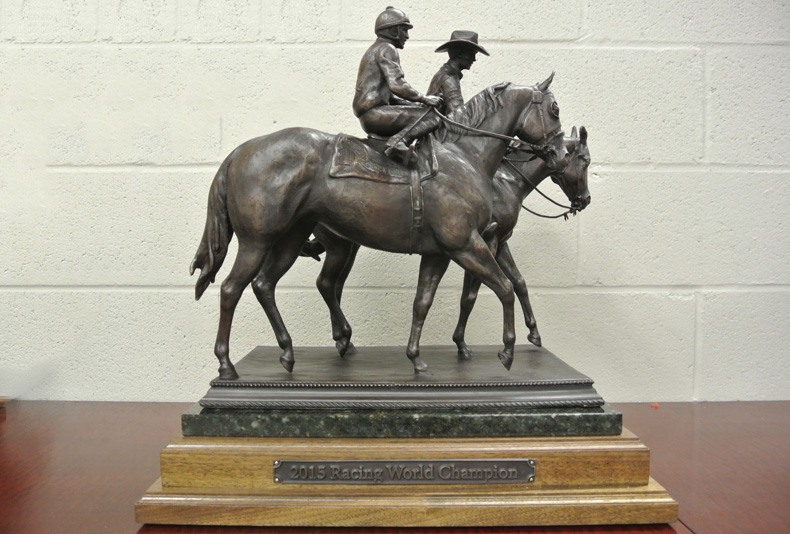 World Championship Trophy | 2015  This is an American Quarter Horse Association Trophy sculpted by Lisa Perry.