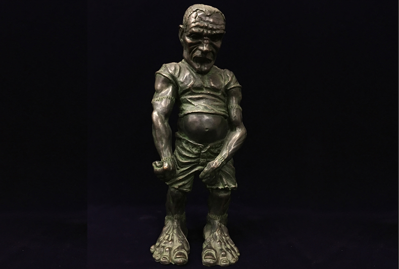 Frankenstein  Limited edition bronze sculpture.   6 X 6 X 19""