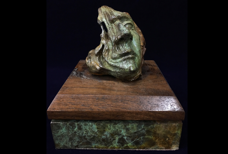 St Thomas  Limited edition bronze sculpture.   6.5 X 5.5 X 5.5""