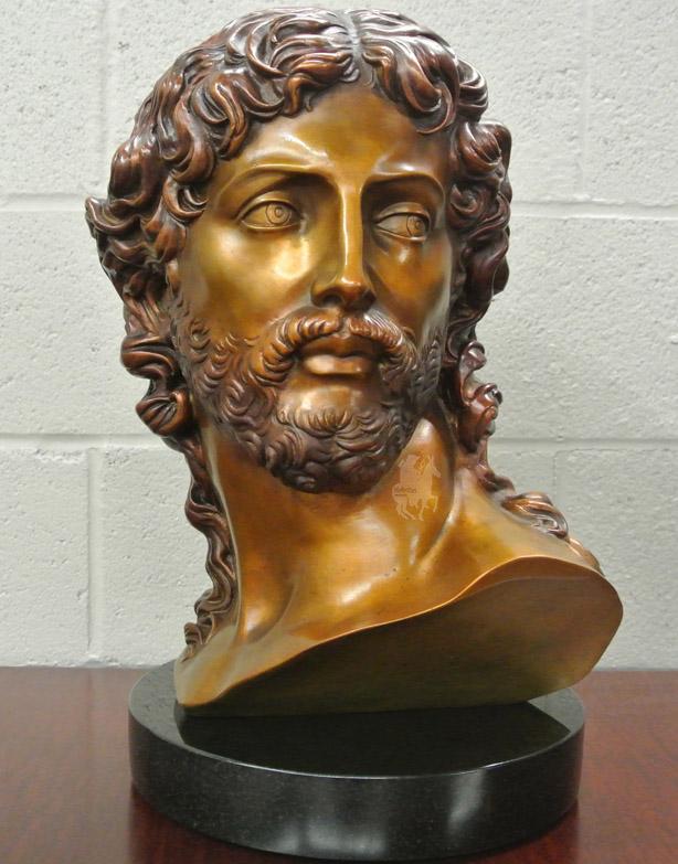 Michelangelo's Resurrected Christ Bust in Bronze -1