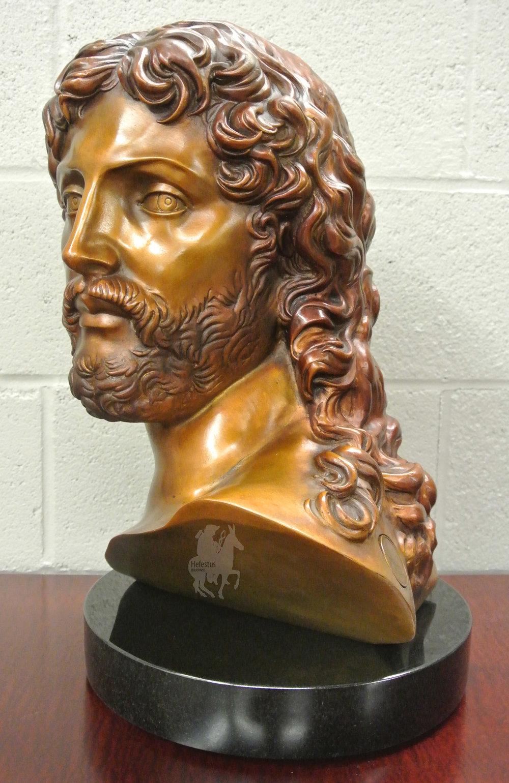Michelangelo's Resurrected Christ Bust in Bronze - 5