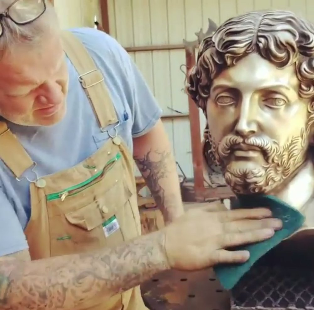 Patina on Bronze Jesus Busts