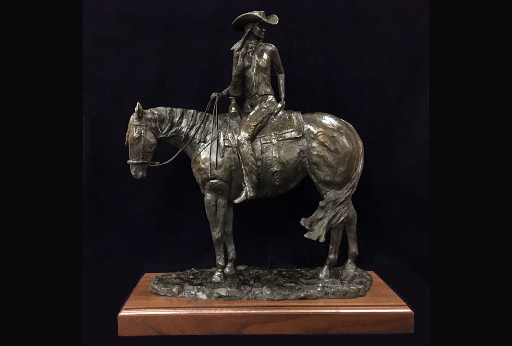 Mary | 2018  This bronze is part of Jerry's western series.