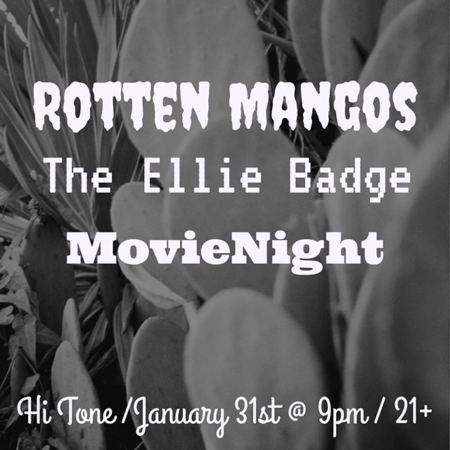 Come on out to the highest of tones to hear the bestest of tunes. Super excited to play with @therottenmangos and our good pals @theelliebadgesucks . Let's have some fun🍻 ———————————————————————- #vsco #memphismusic #choose901 #hitone #letthegoodtimesroll #rottenellienight