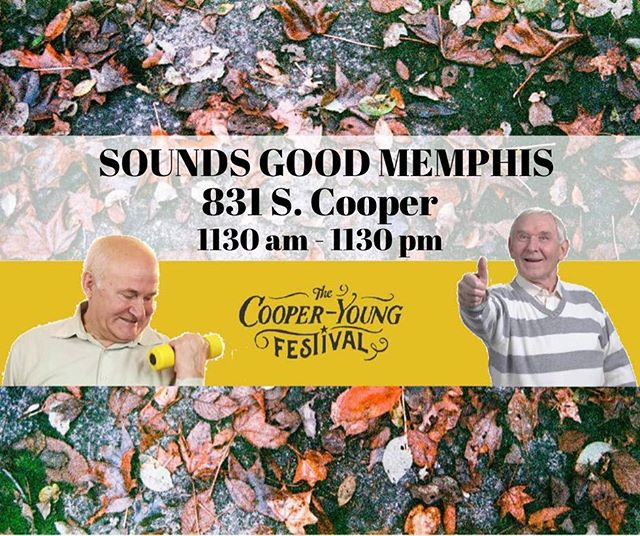 "It's that time of year again! The streets shall be filled with food, merchants, music and dancing. All the festivities are going down at Cooper Young Fest so come out and enjoy all the finest things Memphis has to offer. We will be a part of the show once again at Sounds Good Memphis located at 831 S. Cooper. The door charge is a ""pay what you can"" entry and there is no age limit. Come see us from 4:45 to 5:10! #memphismusic #cooperyoungfestival  #localnoise #MN #choose901"