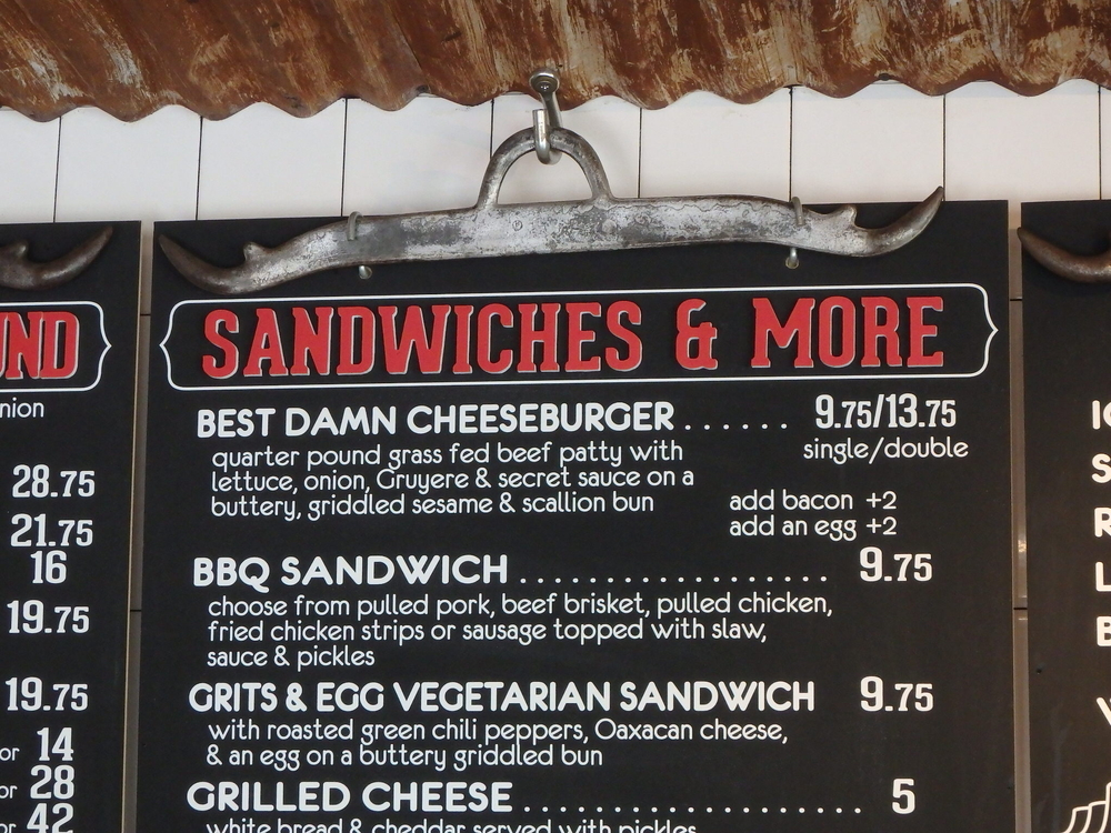 The Menu at 4505 Burgers and BBQ