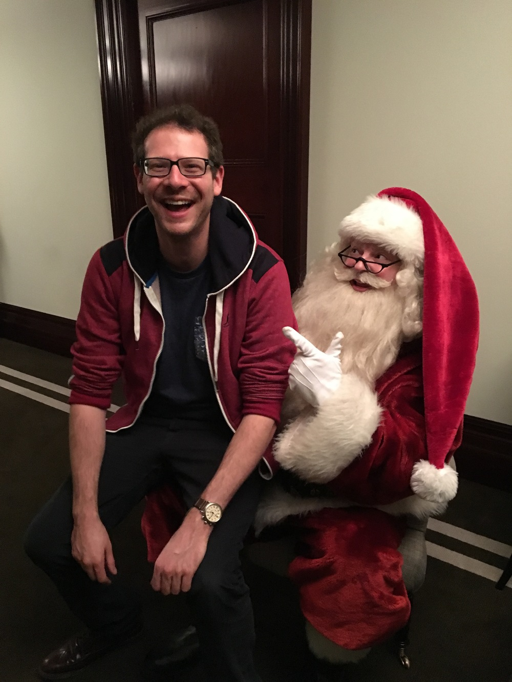 Olly meets Nigel Harvey, aka Celebrity Santa
