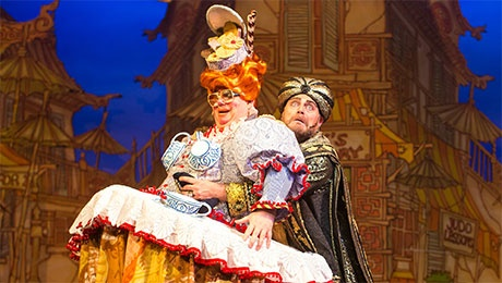 Eric Potts and John Thomson in  Aladdin  at the Manchester Opera House