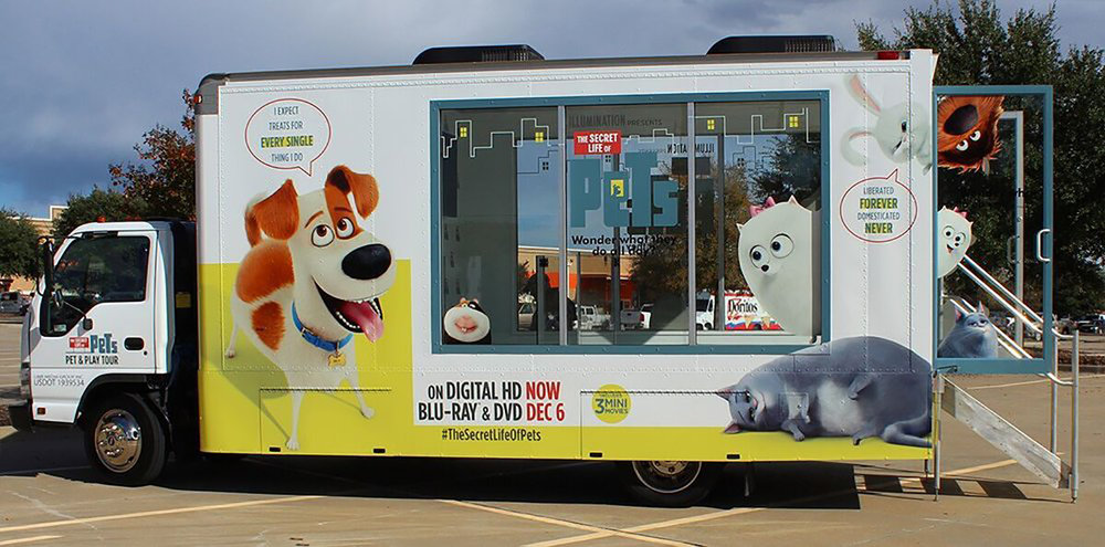 life of pets glass box truck