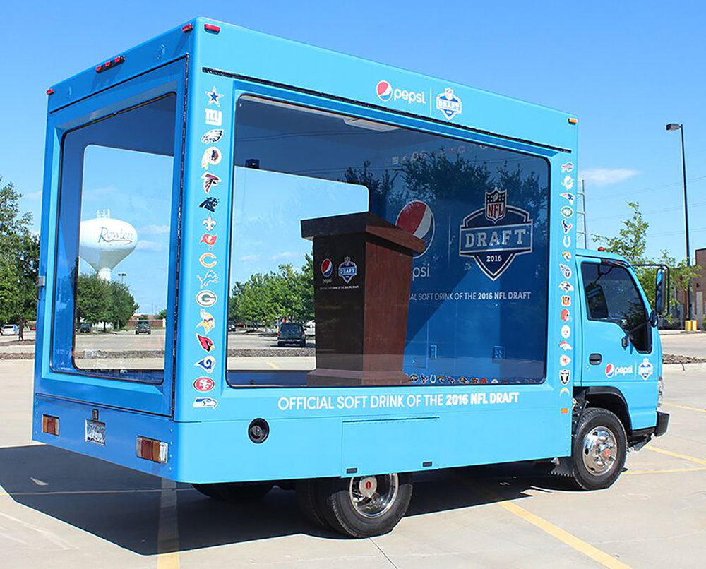 Pepsi NFL Glass Box Truck