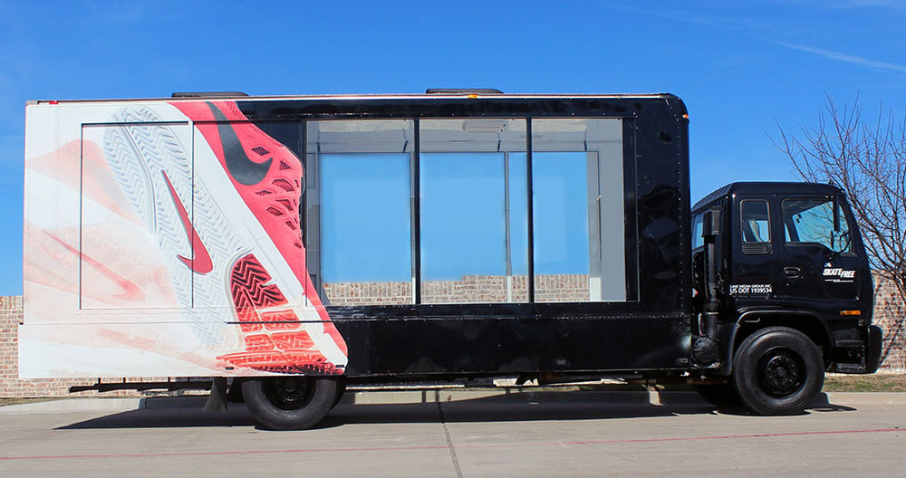 nike glass box truck