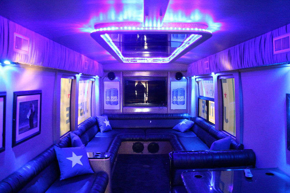 Bud Light Party Bus Inside Prevost