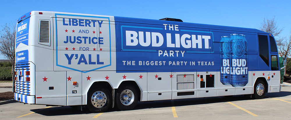 Bud Light Party Bus - Prevost Bus