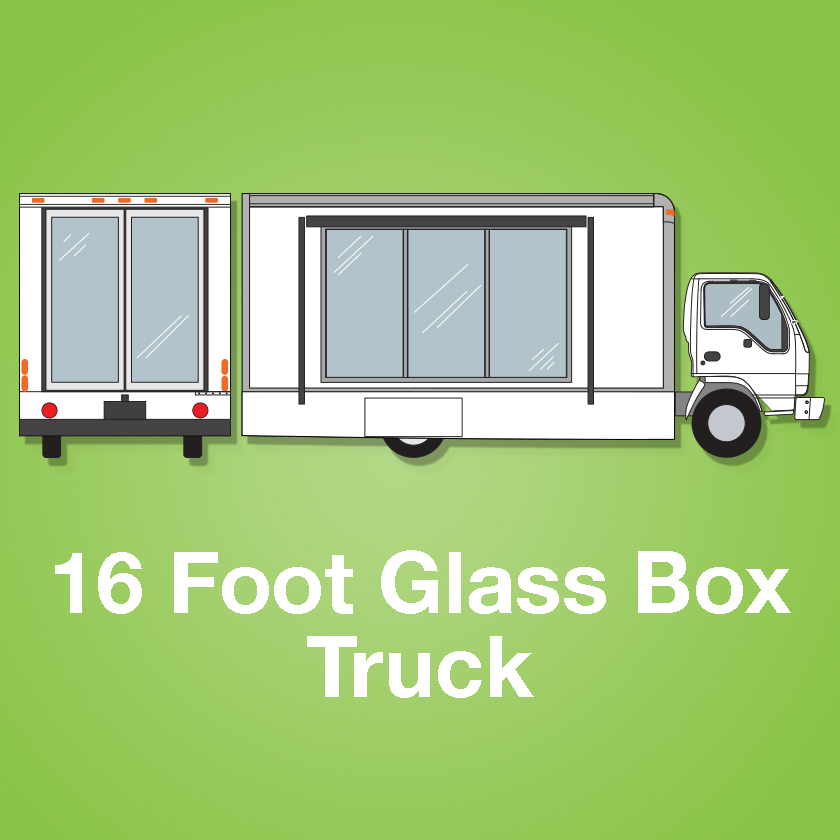 16 Foot Glass Box Truck