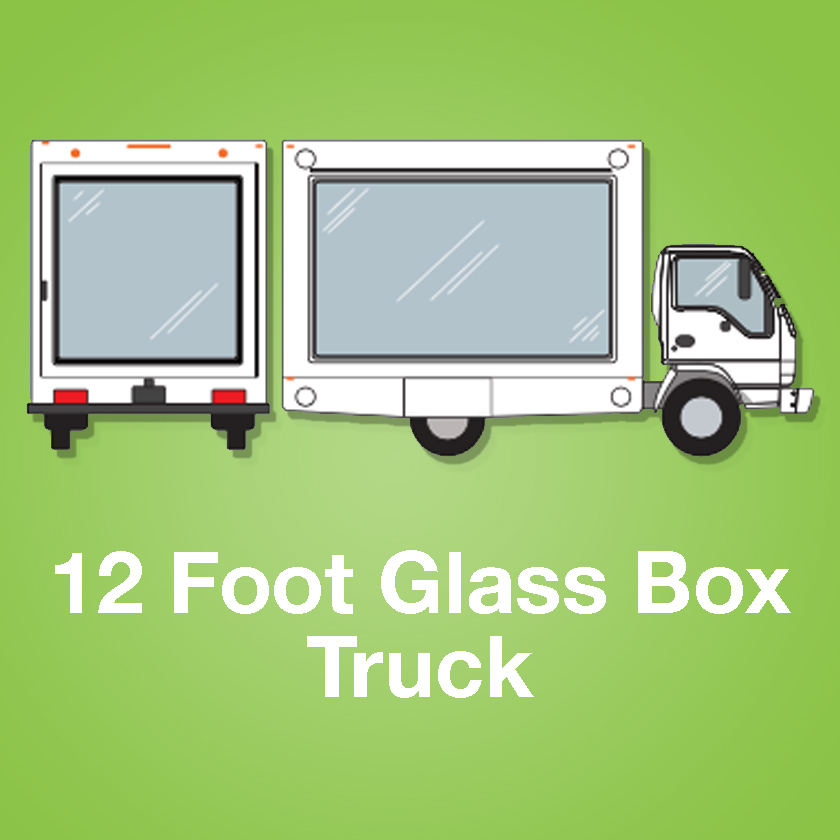 12 Foot Glass Box Truck