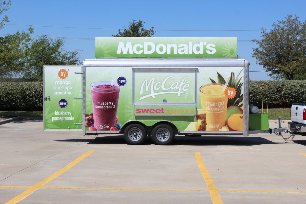 McDonald's Sampling Trailer