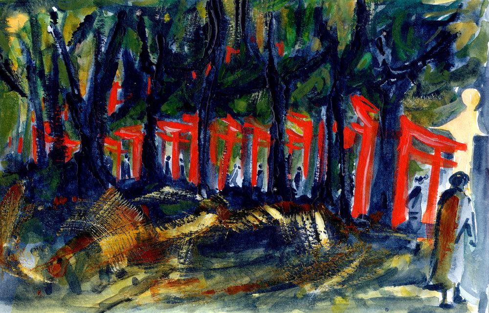 Red gates at Inari
