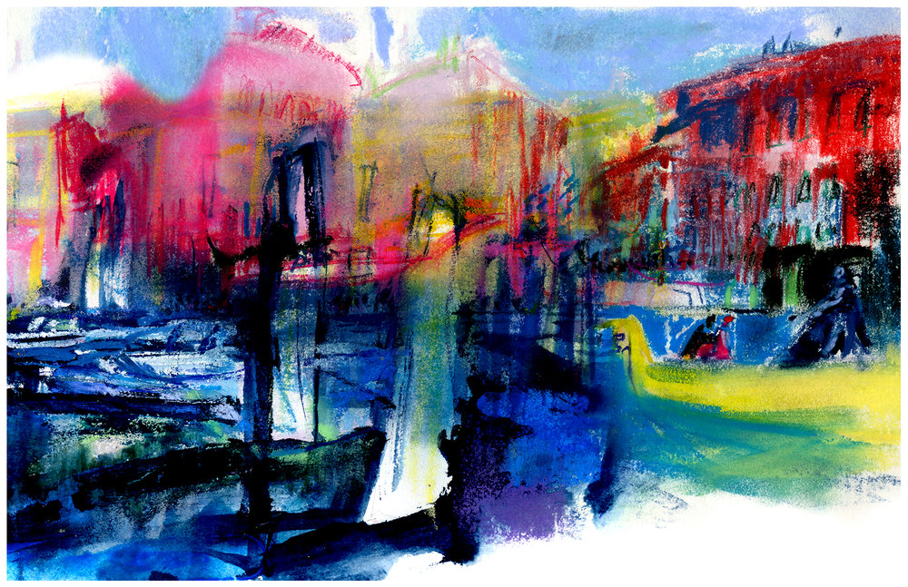Along the Venetian canals