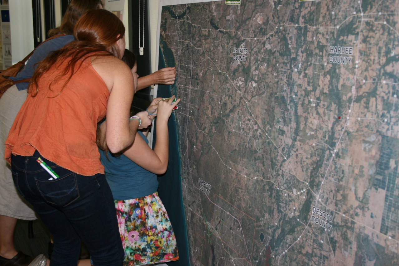 Students Adding Stickers to Regional Map