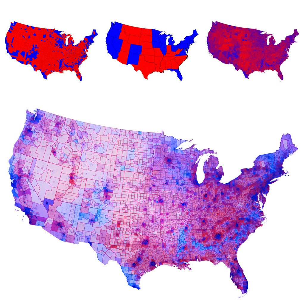 Mapping The 2012 Election Scope - Us-2012-election-map-by-county