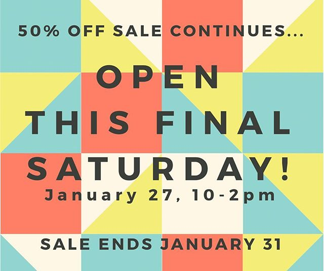 FINAL Saturday SALE! We've opened one final Saturday so you can enjoy our SALE. Inventory is moving fast so don't miss out! #adornrefinedliving #finalsale