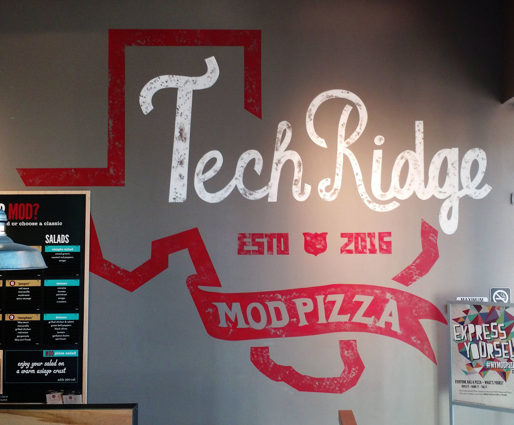 Mural at MOD Pizza at I35 & Parmer