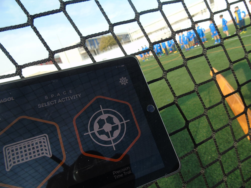 "Proprietary Tech Software - The Hexagol Tech Pack offers a revolutionary way to enjoy football. By combining traditional drills with cutting edge technology players can test and track improvements in ball-control, passing, shooting, reactions and stamina.Within the ""Cell', the Tech Pack consists of 12 LED illuminated targets; 6 net mounted and 6 corner mounted kick-boards. These connect wirelessly to the Hexagol S.P.A.C.E.S iOS app via the bluetooth 4.0 Basestation. The simple and intuitive S.P.A.C.E.S app contains a number of games designed specifically to hone and improve certain player attributes."