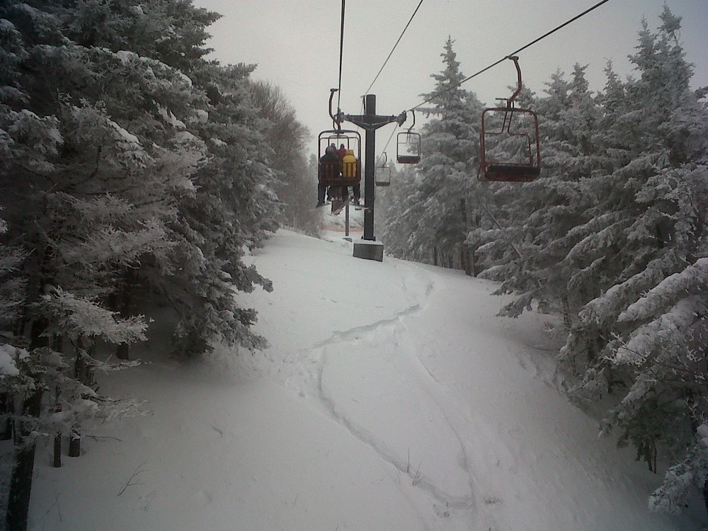Magic Bus – Skiing Vermont's Magic Mountain during a post Christmas Blizzard.