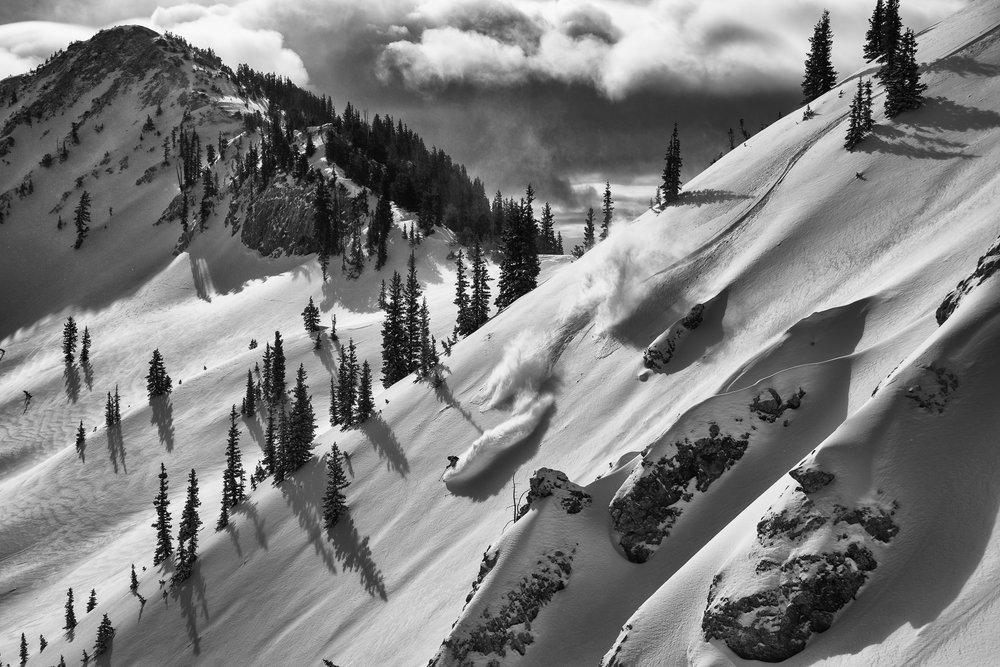 Latitudes. Alta Shuffle. Skier: Julian Carr. Photo: Adam Barker