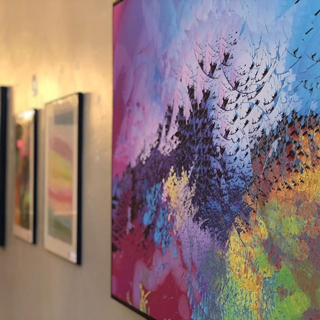 Artists of Opportunity First Friday show TONIGHT! Immerse yourself in the colorful, beautiful and bright on this cloudy day. • • • • Doors open at 5:00. Awards Ceremony at 6:00. Light refreshments served. @opportunity_resources • • • • #montana #firstfriday #missoula #missoulamontana #downtownmissoula #downtown #artistsofopportunity #artistsofinstagram #publichousemissoula