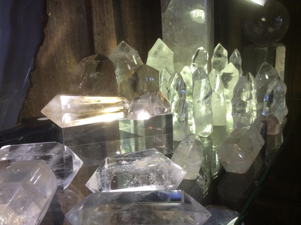 clear twisted quartz & smoky quartz