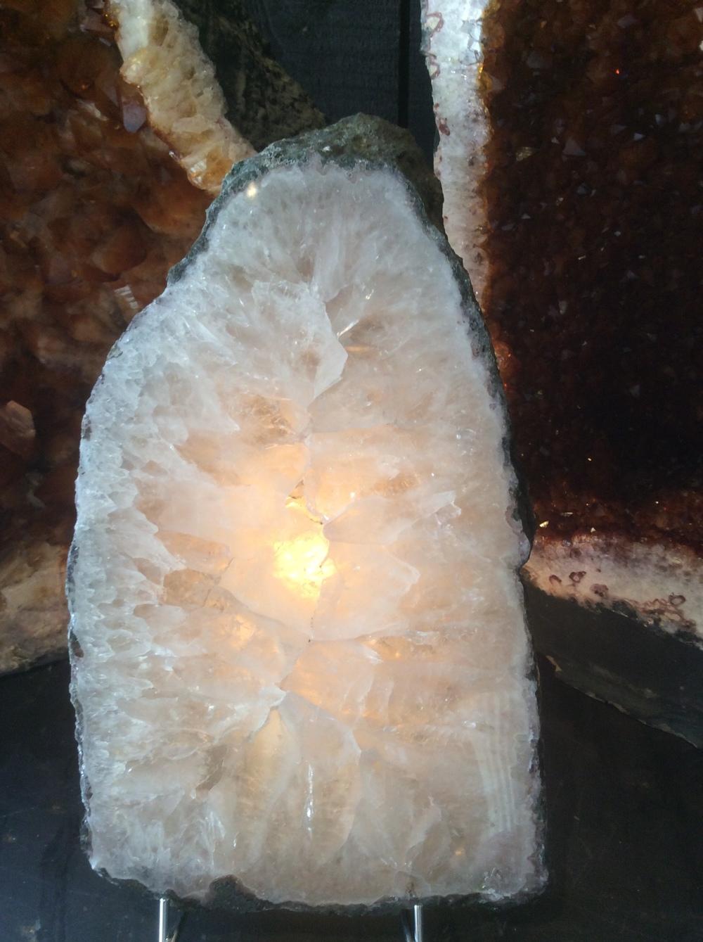 amethyst slice (back-lit)