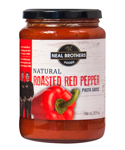 Neal Brothers Natural Roasted Red Pepper Pasta Sauce Packaging Design