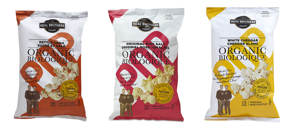 Neal Brothers Popcorn Packaging Design