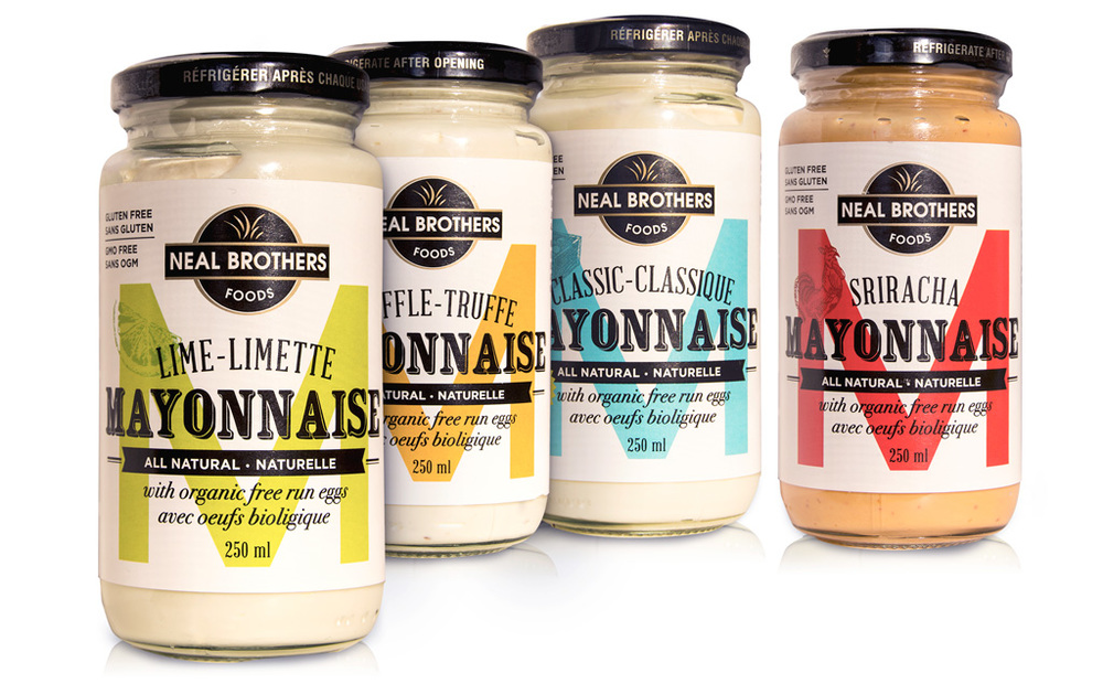 Neal Brothers Mayonnaise Packaging Design