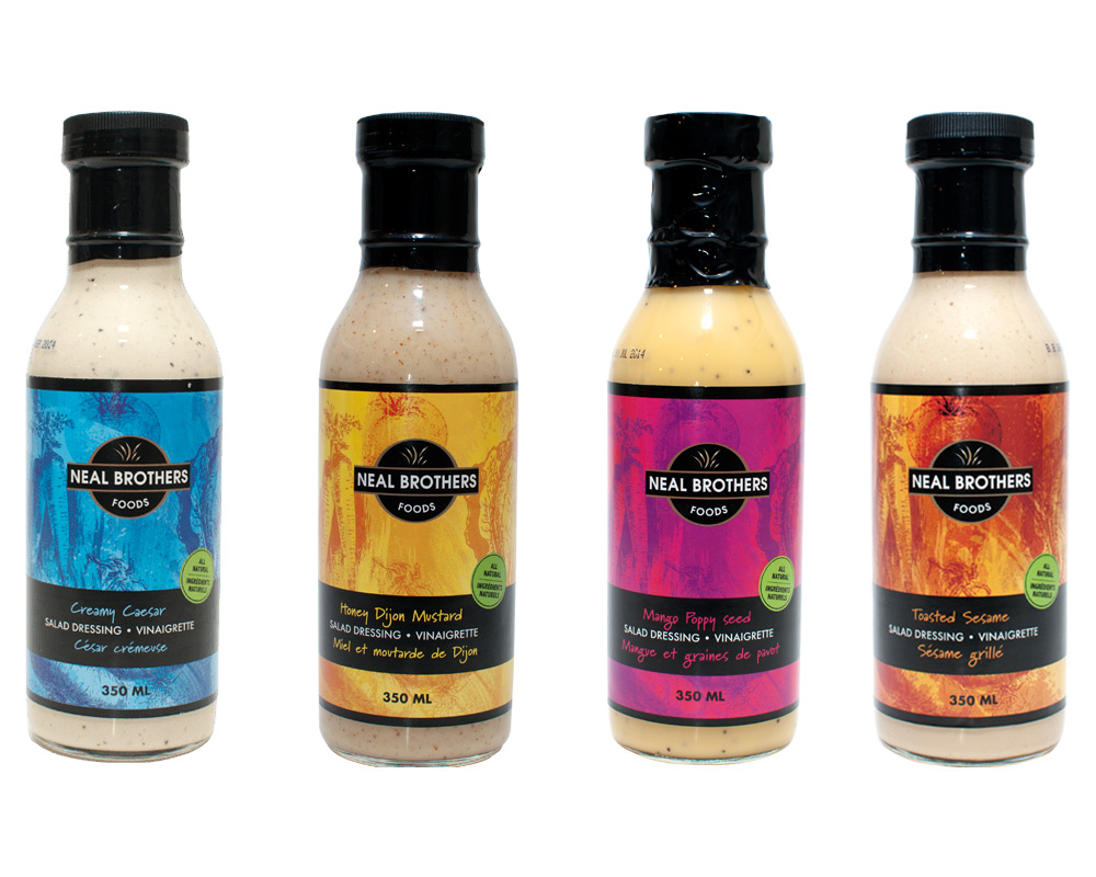 Neal Brothers Salad Dressing Packaging Design