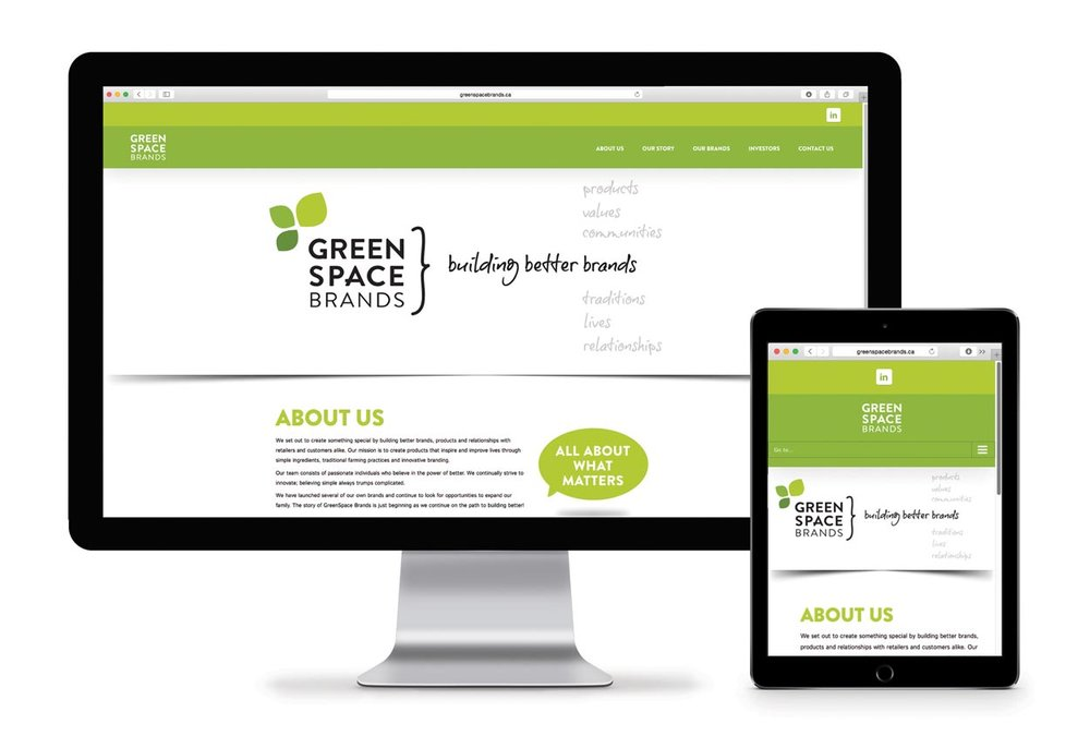 Greenspace Brands web design