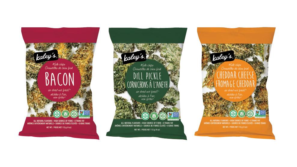 Kaley's Kale Chips Packaging Design