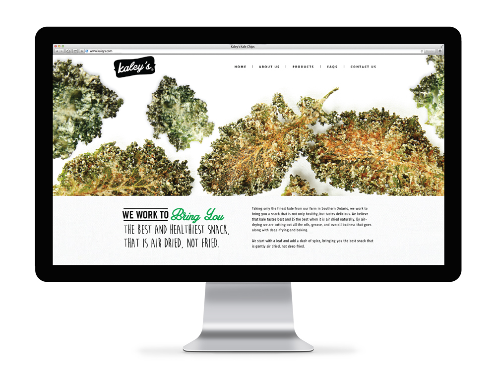 Kaley's Kale Chips Web Design