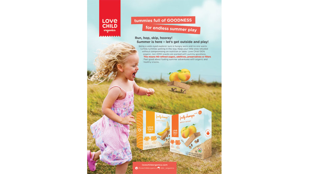 Love Child Organics Advertising