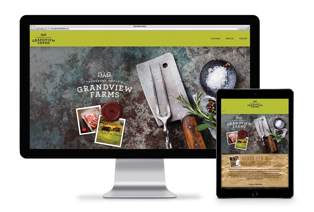 Grandview Farms web design