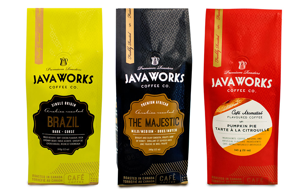 Javaworks packaging design