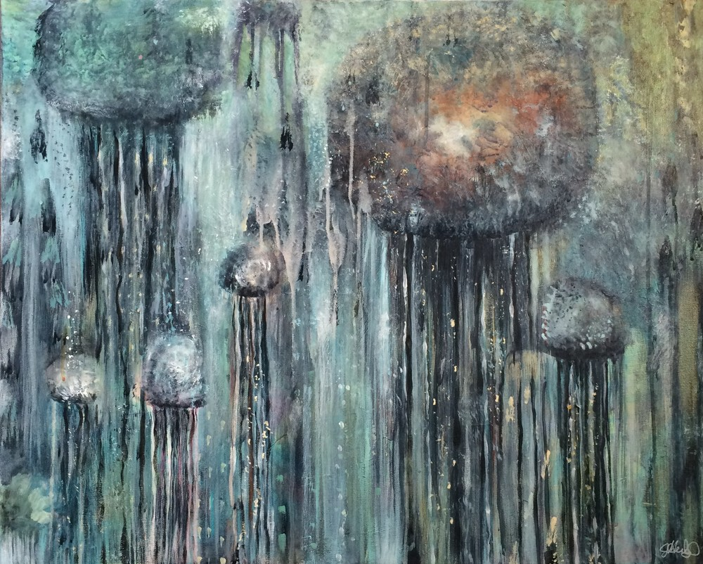 "Chandeliers of the Ocean 24""x 30"" canvas (sold)"