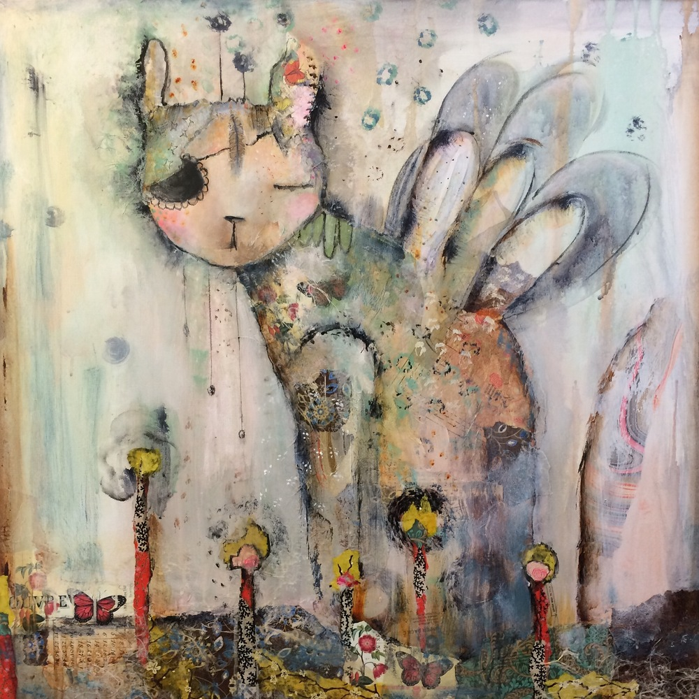 "Garden of Will 36""x 36"" mixed (sold)"