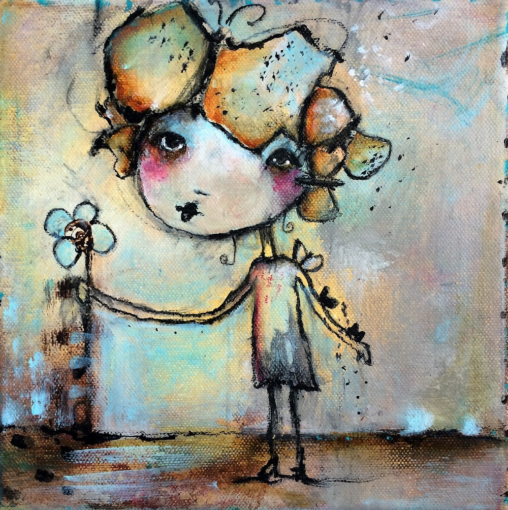 "Butterfly Kisses 8""x 8"" canvas"