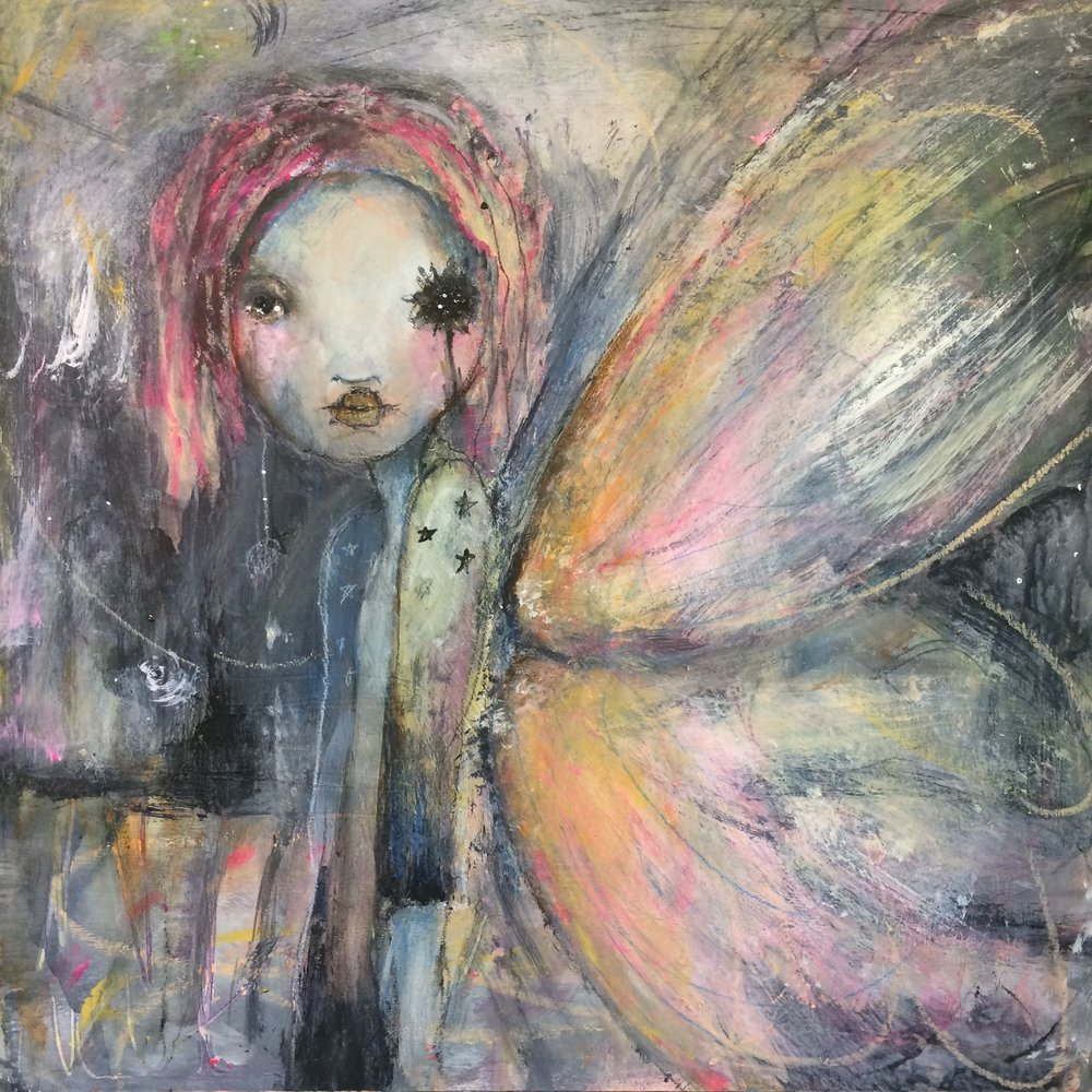 "With Wings 16""x 16"""