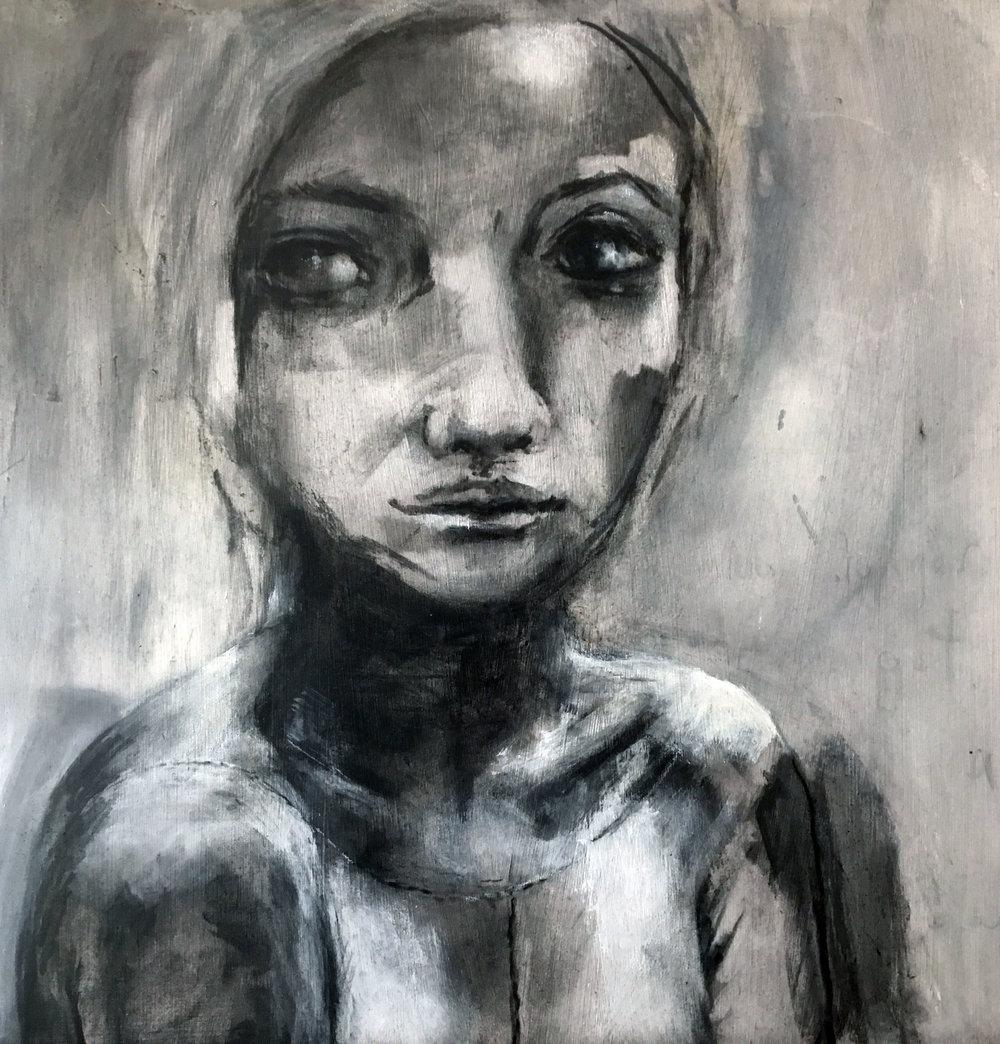 "Untitled 16""x 16"" charcoal"