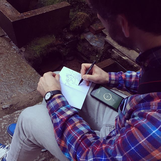 Mayfly sketching #soundsofjapan #jotter #travel #sketch #kyoto #fox