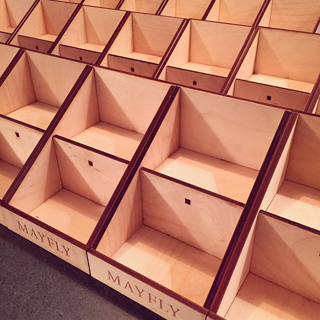Display stands finished! #mayfly #journal #plywood #display